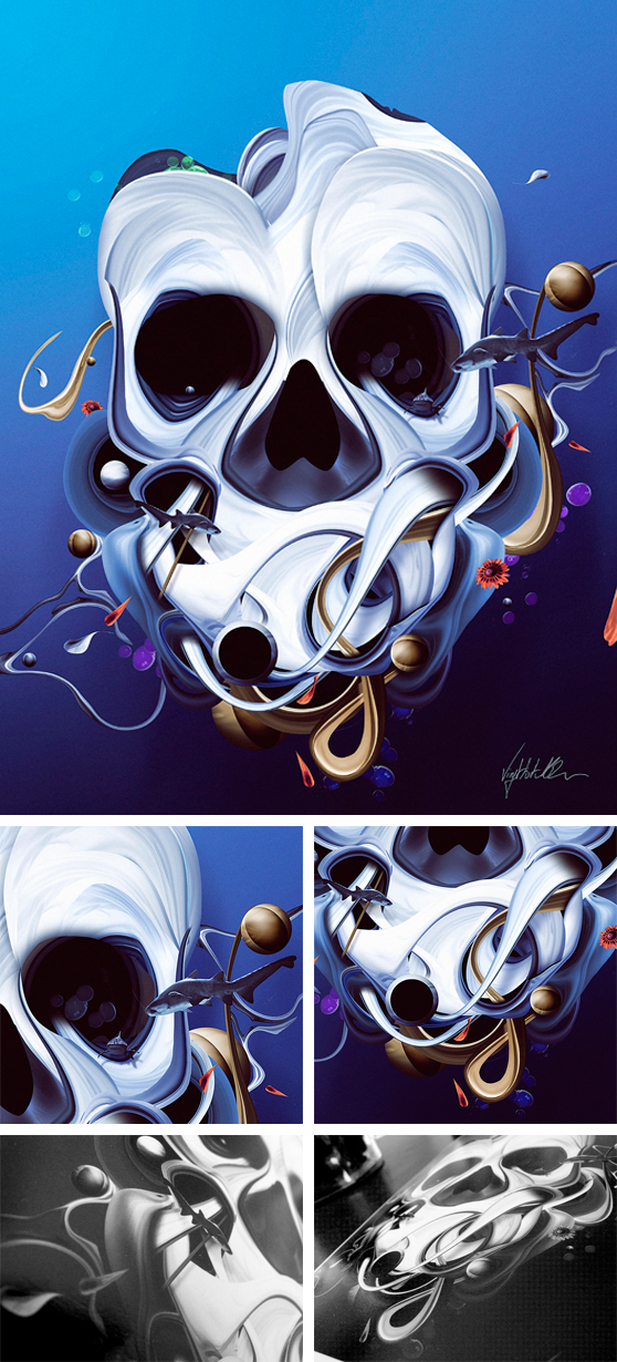 David Delin - Organic Skull