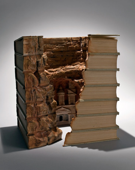 Landscapes Carved Into Books By Guy Laramee - Biblios