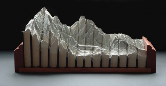 Landscapes Carved Into Books By Guy Laramee - The Great Wall