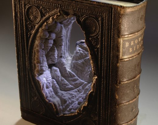 Landscapes Carved Into Books By Guy Laramee - Guan-Yin