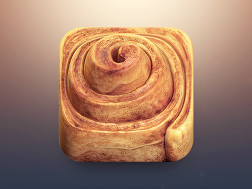 Cinnamon Roll App Icon by Creativedash