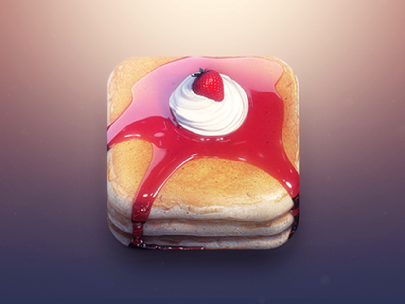 Pancakes App Icon by Creativedash