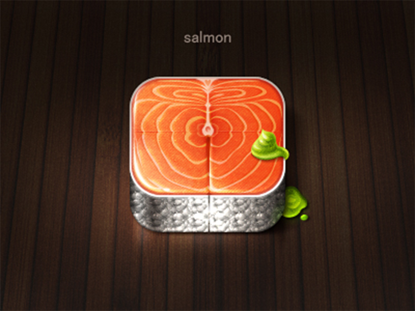 Salmon Icon by xiaoxian
