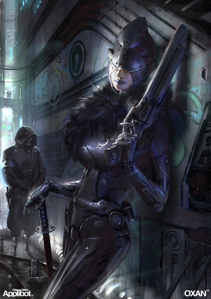 Carlitta - Cyber Mafia Boss Samurai by OXAN