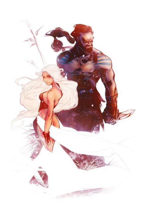 Khal Drogo and Daenerys from The Game of Thrones