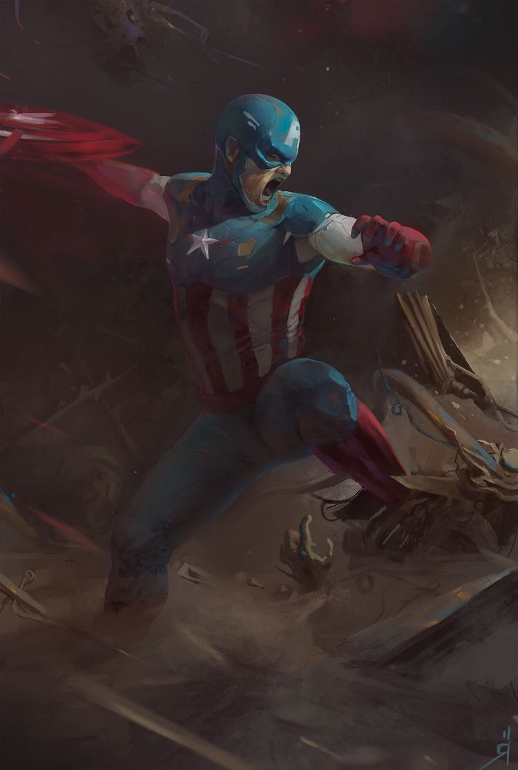 Captain America from the Marvel series