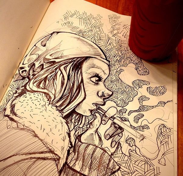 Coffee & Sketch by Kaan Demircelik