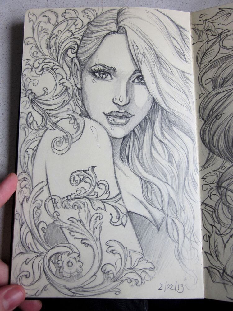 Moleskine 3 sketch by Sabinerich