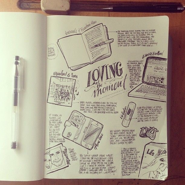 Sketch journaling by Beejaedee