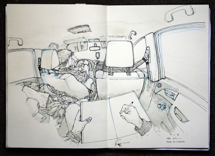 On the road sketchbook by Thomas Cian