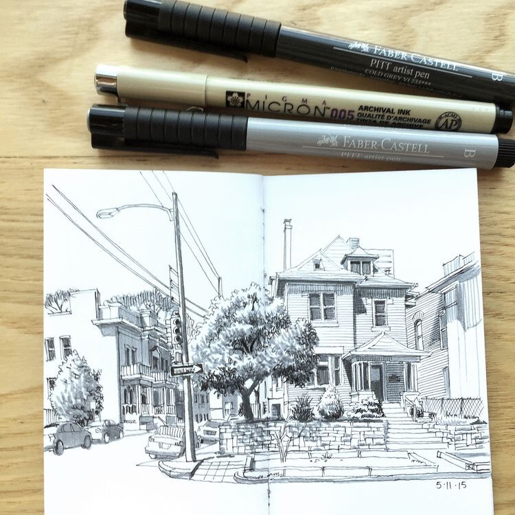 Sketching in Capitol Hill, Denver by Paul Heaston