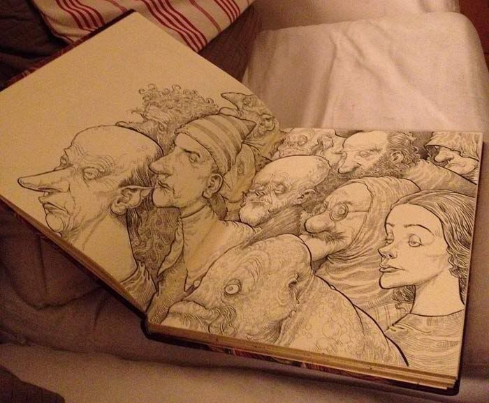 A peek at Chris Riddell's sketchbook