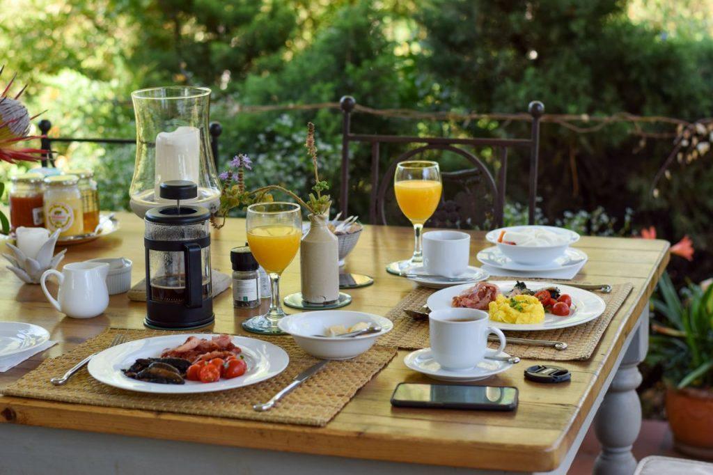 Breakfast at Remote Corner, Johannesburg