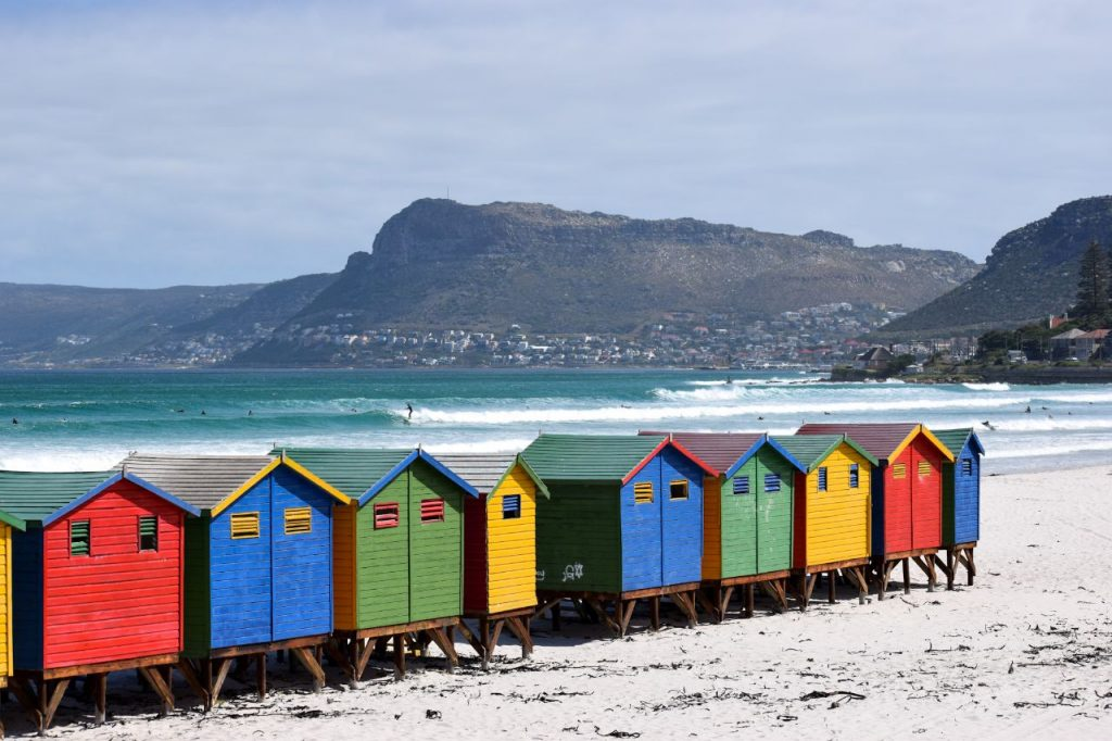 Muizenberg Beach changing houses