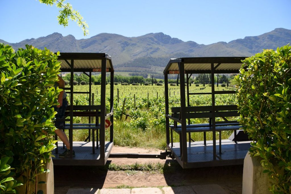 Franschhoek wine tram near Grand Provence